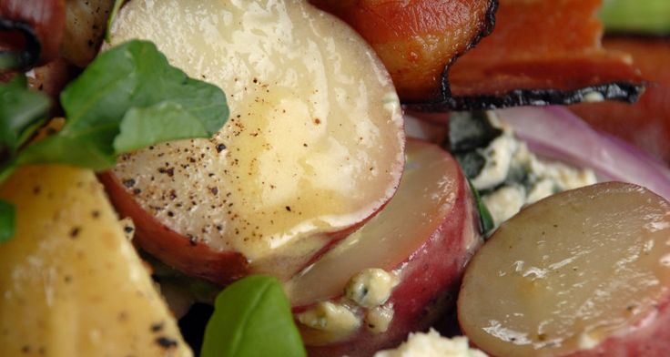 Potato salad is a picnic classic, so try this Warm potato Salad with Blue Cheese, Bacon and Red Onion. http://gustotv.com/recipes/sides/warm-potato-salad-blue-cheese-bacon-red-onion/