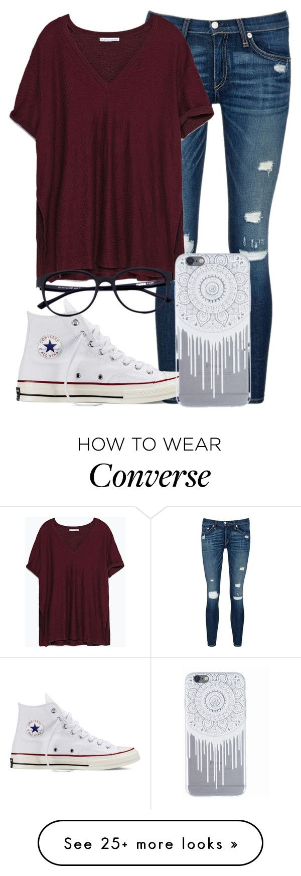 """»»»Sounds of Love«««"" by mallorimae on Polyvore featuring rag & bone/JEAN, Zara and Converse"