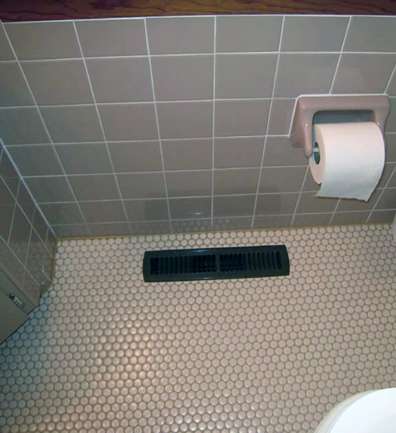 Bathroom Flooring, Tile Flooring, Flooring Ideas, Penny Round Tiles, Penny  Tile, Subway Tile Showers, Glass Subway Tile, Ideas For Small Bathrooms,  Bathroom ...