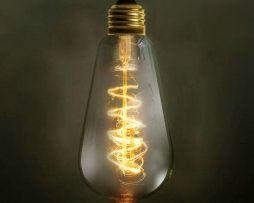 EDISON žiarovka - SPIRAL TEARDROP - E27, 40W, 120lm