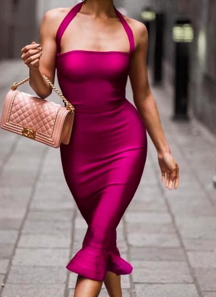 df7cb68739 My Diva Bandage Dress-Fuchsia - Posh Fashion Girls