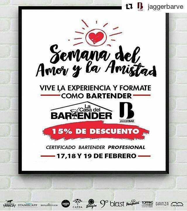 #Repost @jaggerbarve  YARACUY - CHIVACOA Llegamos cargados de energía MES DEL AMOR Y LA AMISTAD. Ven a  compartir en pareja o tu amigo.  Vive la Experiencia de formarte como Bartender de la mano de @LaCasaDelBartender y @JaggerBarVE 15% de DESCUENTO - Inscribete en pareja y  obten el descuento.  ULTIMOS CUPOS!  FORMAMOS LIDERES BARTENDERS y queremos que tu seas uno de ellos. INF 04145473129  INVITAN:  @ChivacoaPOP @GainzaRest @Capracocuy @Blast_VE @RonCanaima @RonNaiguata @RonDiplomatico…