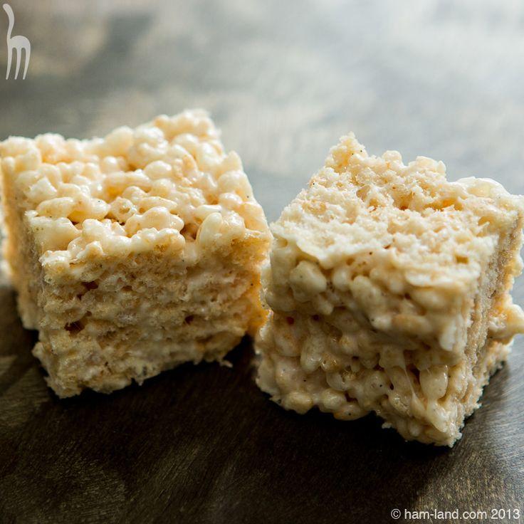 Brown Butter Vanilla Bean Rice Krispie Treats | ham-land.com