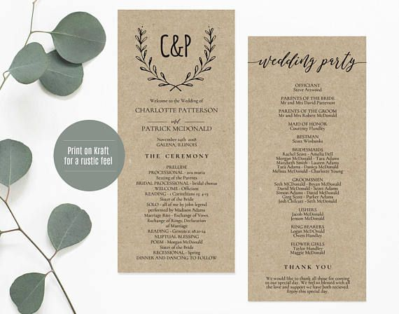 Mer Enn 25 Bra Ideer Om Wedding Ceremony Program Template Pa Pinterest