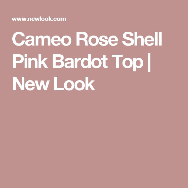 Cameo Rose Shell Pink Bardot Top | New Look
