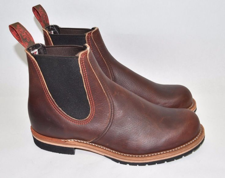 New Red Wing CHELSEA RANCHER BOOTS STYLE NO. 2917 Brown Leather Size 8.5 D | eBay
