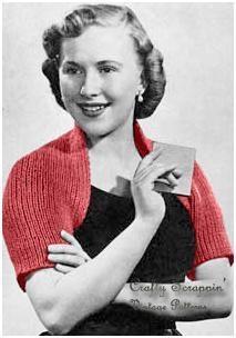 Instantly Download this Vintage Shoulderette PatternShoulderett Boleros, Knits Shoulderett, Knitting Patterns, Shoulderett Pattern, Knits Pattern, Vintage Pattern, Shoulderett Shrugs, Vintage Knits, Vintage Shrugs