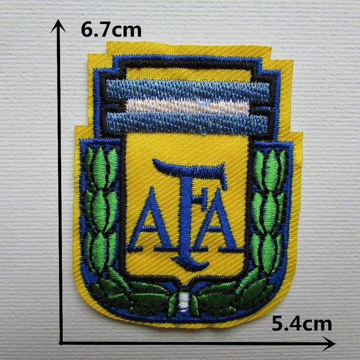 FairyTeller Argentina Football Association Logo Hot Melt Adhesive Clothing Patch Applique Embroidery Blossom Diy Accessories 1Pcs ** You can find more details by visiting the image link.