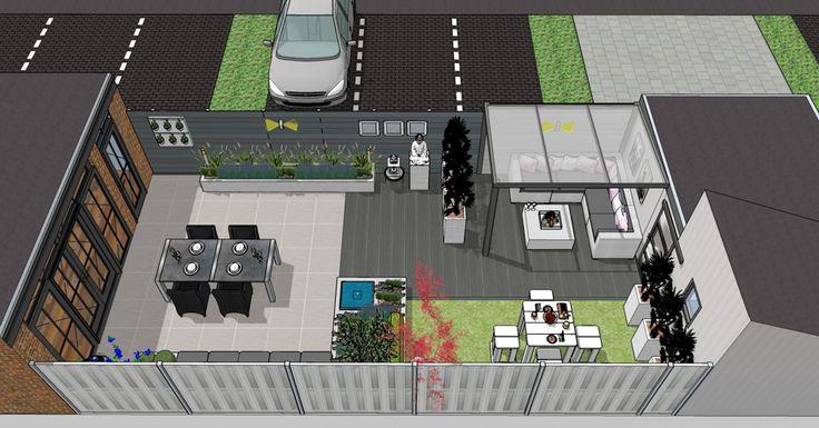 Tuinontwerp Zoetermeer loungetuin | Moderne Stadstuin ...