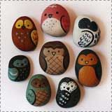 painted rock owls1 Animal Crafts for Fall: Owl Crafts  - Pinned by @PediaStaff – Please Visit  ht.ly/63sNt for all our pediatric therapy pins
