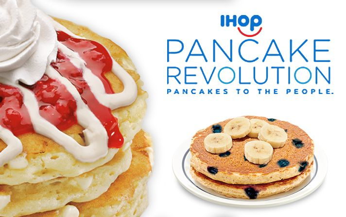 Receive 3 free pancake dinners! Just Sign up for IHOPs Pancake Revolution club  International House of Pancakes stylized as[...]