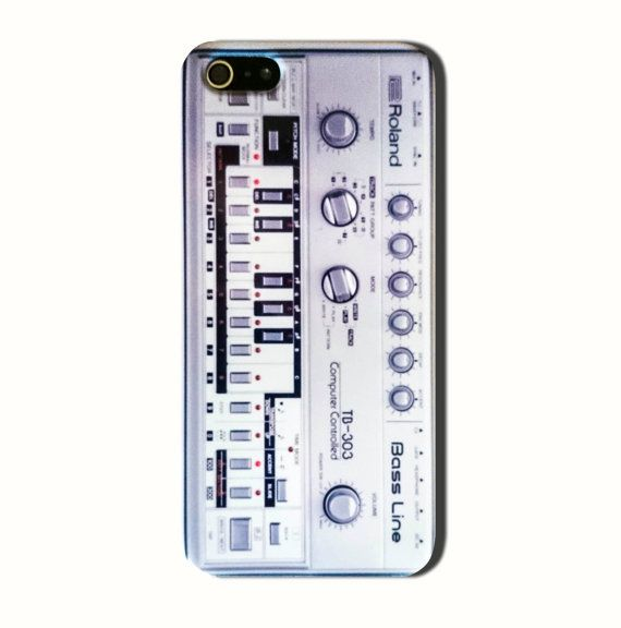 Roland TB 303 is available for iPhone 4/4S, iPhone 5/5s, 5c and new iPhone 6. The picture shows the design on an iPhone 5/5s case  Our cases