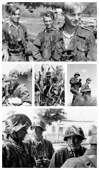 Faces of war: Wiking soldiers during Operation Blue in 1942. The Wiking Division was made up of volunteers from Nordic countries, Netherlands, Belgium and Estonia.