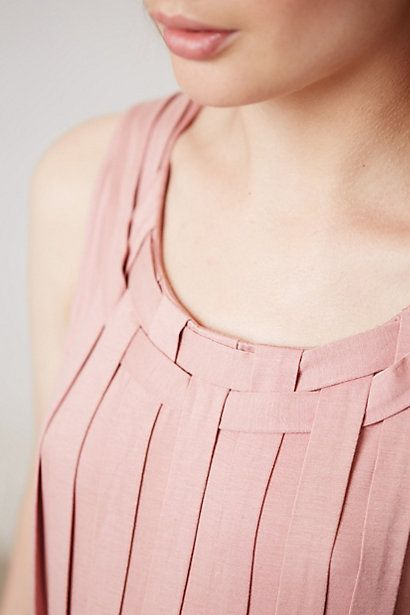 Pleated Avant Top in nude