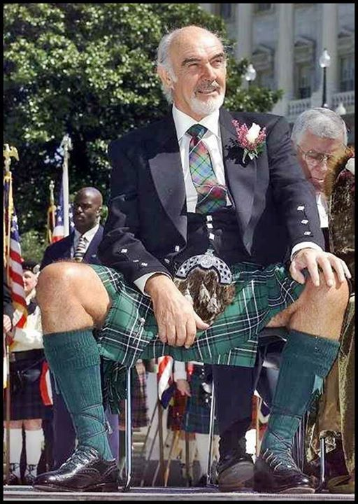 Sean Connery, Real Men wear Kilts. Oh, yes, yes, they do...:)