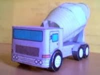 Educar X: Molde de caminhão betoneira (Baixar e imprimir)