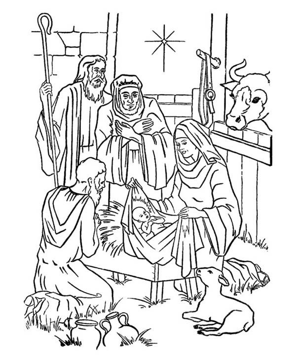 Baby Jesus Picture Nativity Of Coloring Page