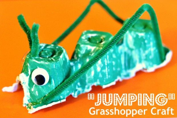 """""""Jumping"""" Grasshopper Craft - Leaving Home with a Pickle Jar"""