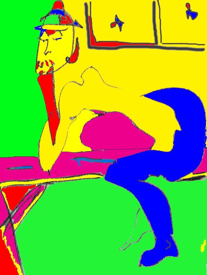 original life model drawing reworked digitally 2009/2014 DLS creation