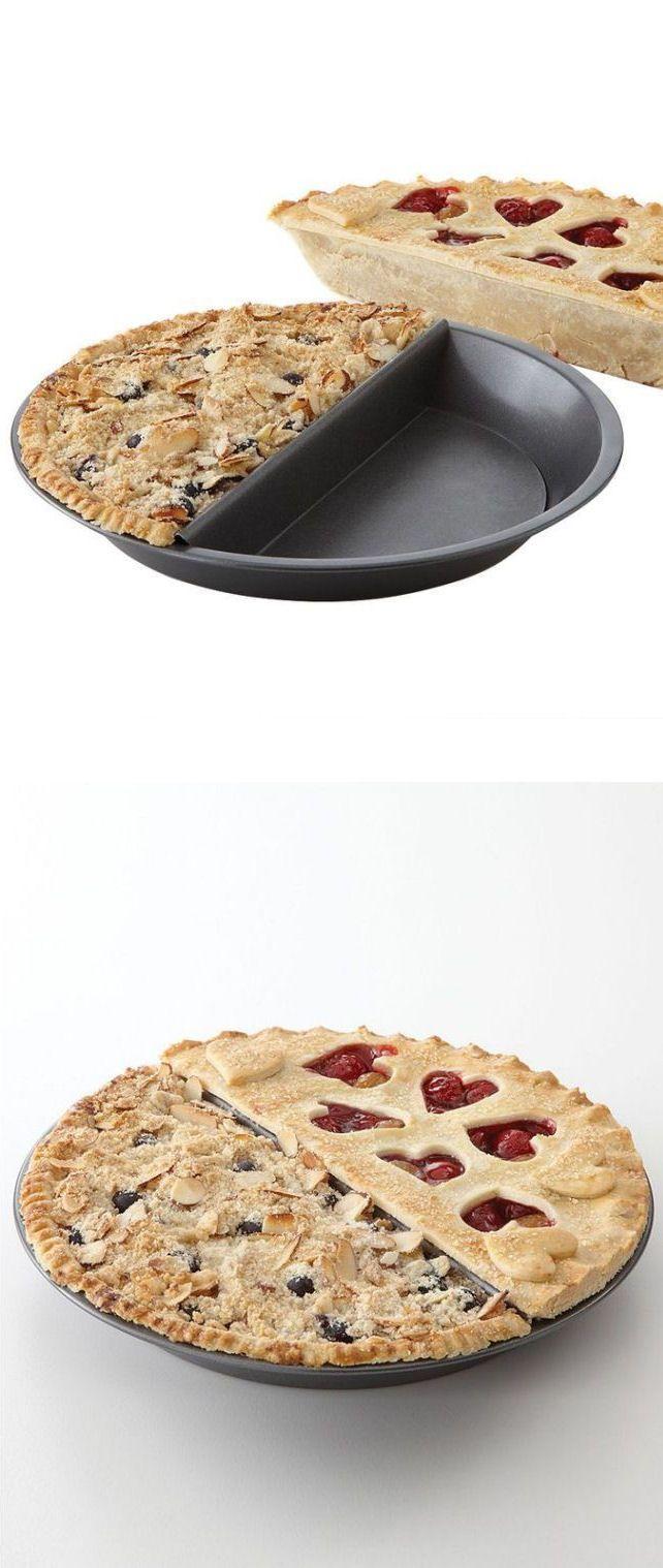 Split Pie Pan // Make 2 types of Pie, Cake, or Potpie at the Same Time #brilliant #baking