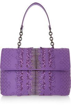 Bottega Veneta Olimpia intrecciato leather and ayers shoulder bag | NET-A-PORTER