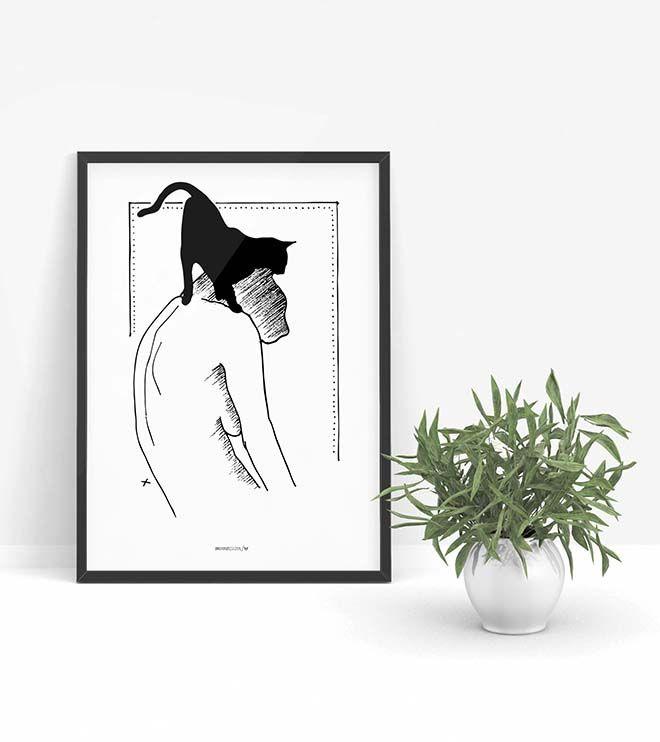 Melancholia - brzydki plakat z kotami