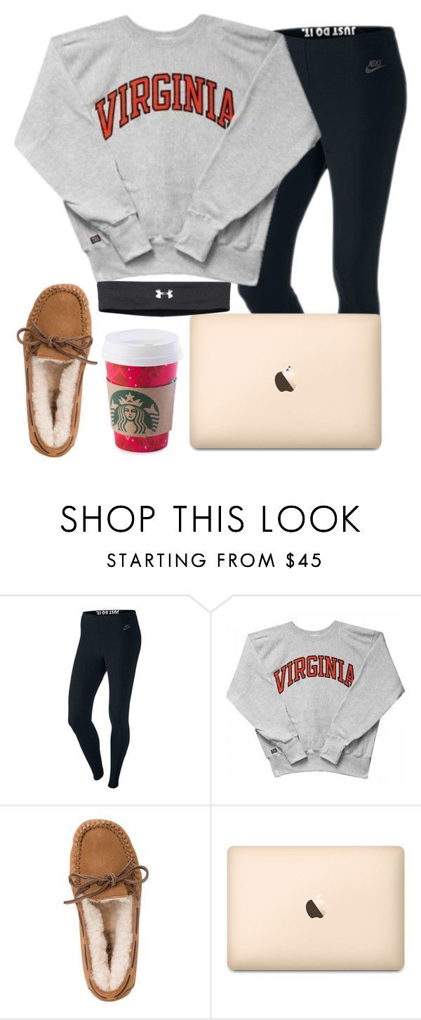 """""""December 18th aka the laziest day ever :)"""" by daydreammmm ❤ liked on Polyvore featuring NIKE, UGG Australia and Under Armour"""
