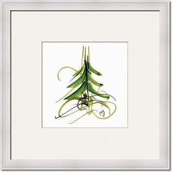 marina's xmas tree No11 By MARINA KANAVAKI framed artwork at ImageKind.com
