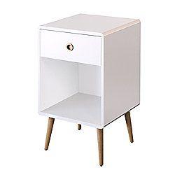 Steens Mode 1 Drawer Bedside White