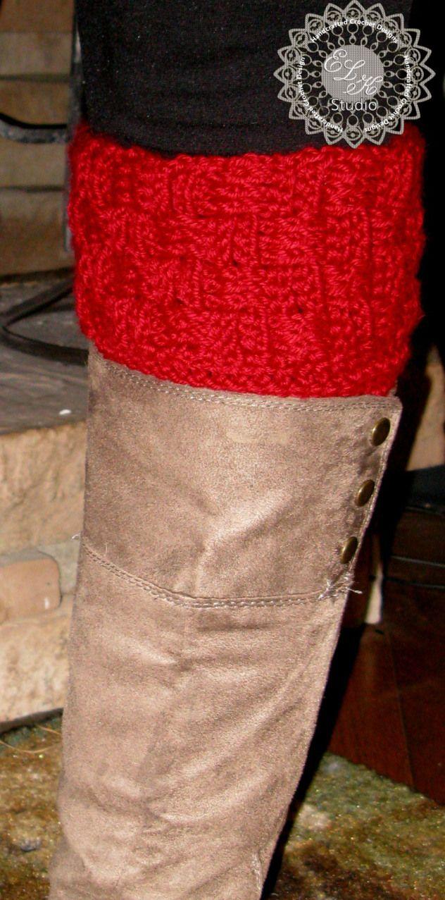 Basketweave Boot Cuff: free pattern