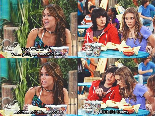 Hannah montana. I do miss this. i loved Hannah Montana!