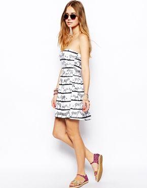 Immagine 4 di ASOS - Vestito a fascia con stampa zebrata