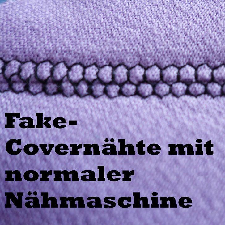 Fake-Covernähte mit normaler Nähmaschine