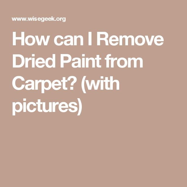How can I Remove Dried Paint from Carpet? (with pictures)
