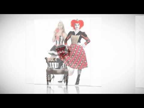 Mad Hatter and Queen Of Hearts Halloween Costumes