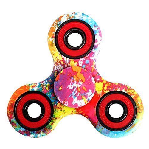 Hand Spinner Stress Relief Jouet,Tri-Spinner Fidget Toy Metal Bearing Focus Toy pour le temps de tuer: Matériel:plastique ABS, roulement en…