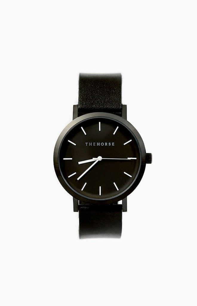 The Horse Matte Black Watch - shop it here: http://beginningboutique.com.au/the-horse-matte-black-watch