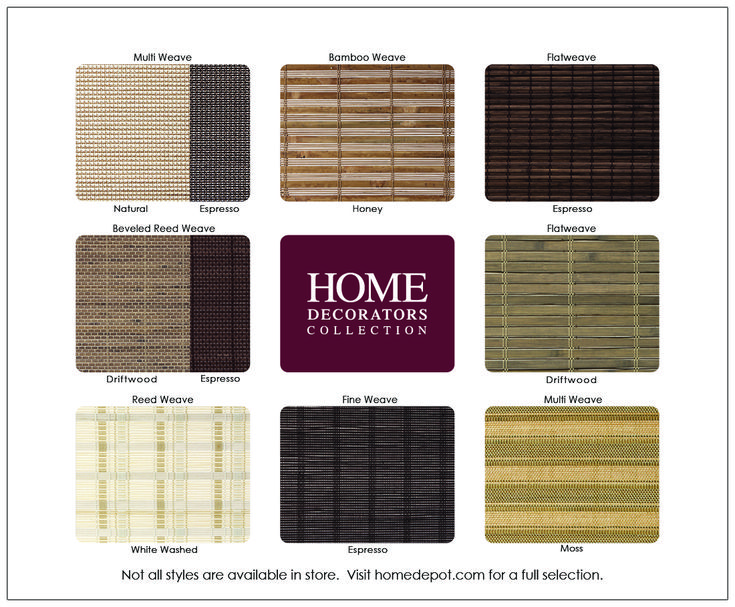 Home Decorators Collection 43 In W X 72 In L Driftwood Flatweave Bamboo Roman Shade 0259546 425x72 The Home Depot Bamboo Roman Shades Woven Roman Shades Woven Wood Shades