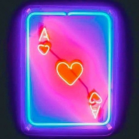Neon Lights Pink Red Blue Pocker Poster Neon Signs
