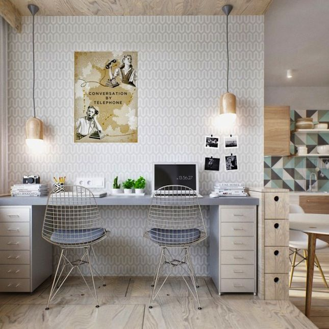 Work from home with this creative space.