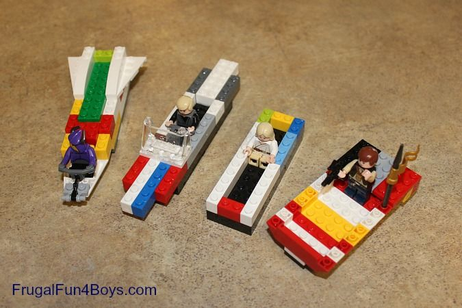 Lego Challenge: Build a boat that doesn't sink.