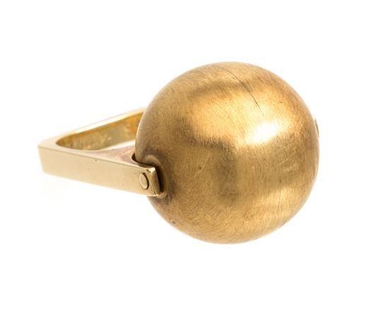 * An 18 Karat Yellow Gold Articulated Ring, Dinh Van for Cartier, Circa 197