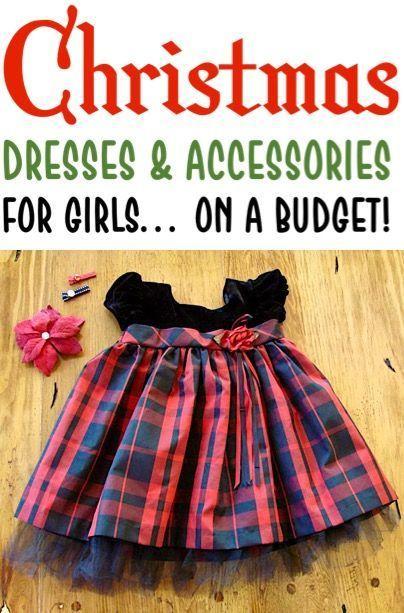 Kleider für Mädchen! Holiday Christmas Classy Dress Ideen und Accessoires auf einem Bud …