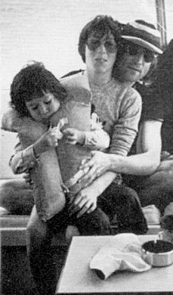 John Lennon, Julian Lennon, and Sean Lennon