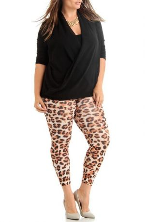 Discounted Women's Plus Size Brown Leopard Ankle Leggings. Women's Plus Size Brown Leopard Ankle Leggings Get in Style with these soft and Stretchy fit Women's Plus Size Leggings. These leggings offer a great fit that will show off your curves while giving you added support. You will love the Soft material that makes these leggings perfect for everyday. You might even consider wearing these leggings to the Gym or a Yoga Class. Leggings are perfect for lounging or going out on the town. Looks…