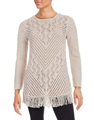 Women's | 25% off New Arrivals | Fringed Open-Knit Tunic | Hudson's Bay