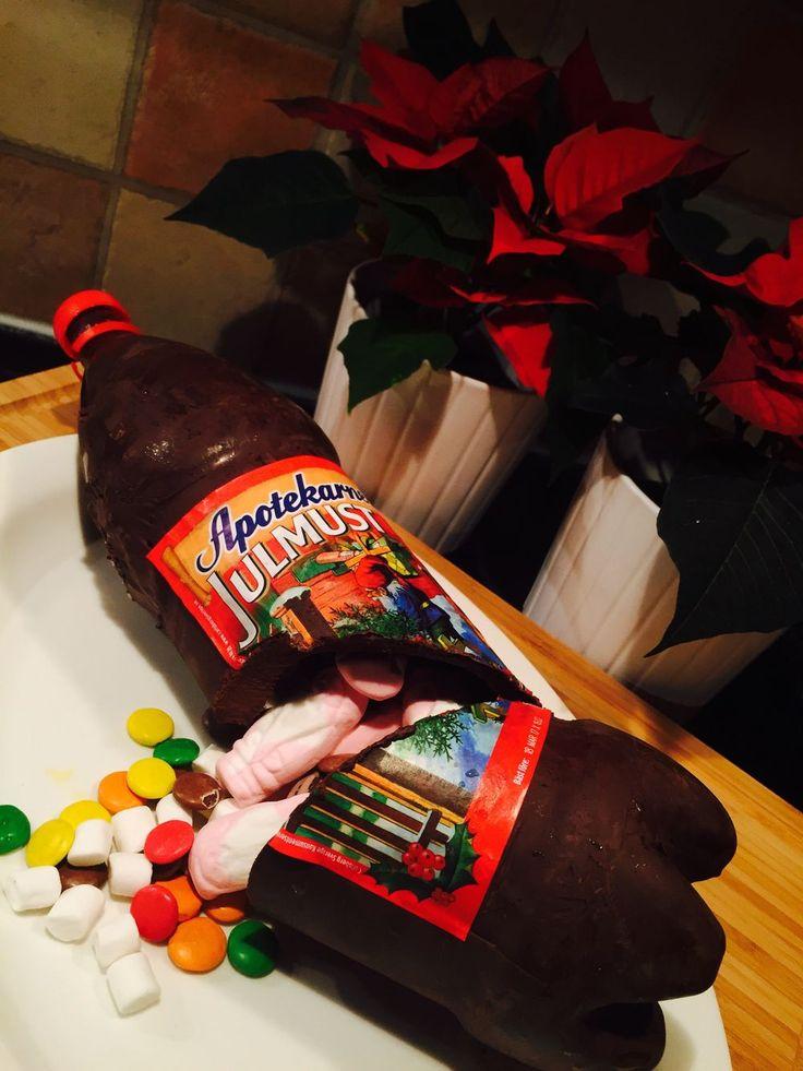 Chokladflaska med godisgömma