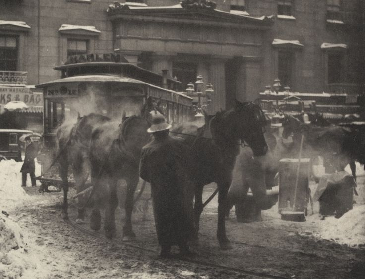"Alfred Stieglitz. The Terminal. 1892. Photogravure. 4 13/16 x 6 1/4"" (12.2 x…"