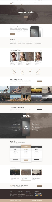 18 best photoshop templates images on pinterest website template
