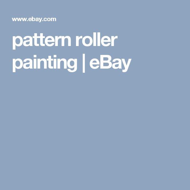 pattern roller painting   eBay